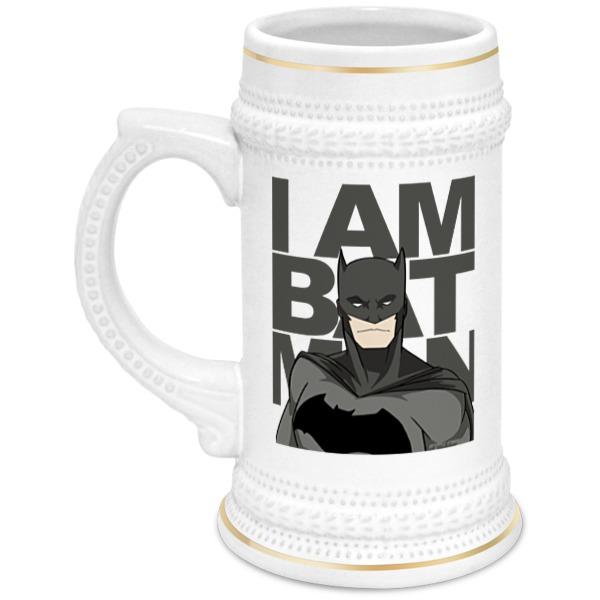 Кружка пивная Printio Бэтмен (batman)