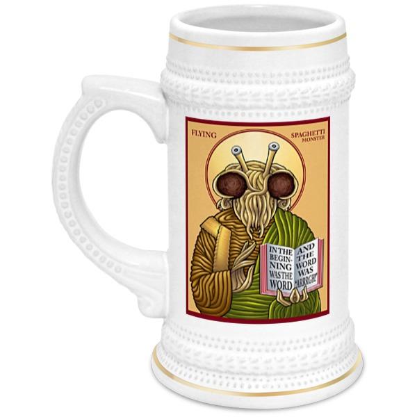 Кружка пивная Printio Символ пастафарианства spaghetti strap crochet trim cami dress