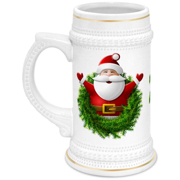 Кружка пивная Printio Санта