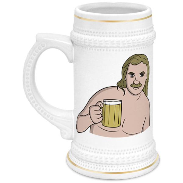 Кружка пивная Printio Выпьем за любовь