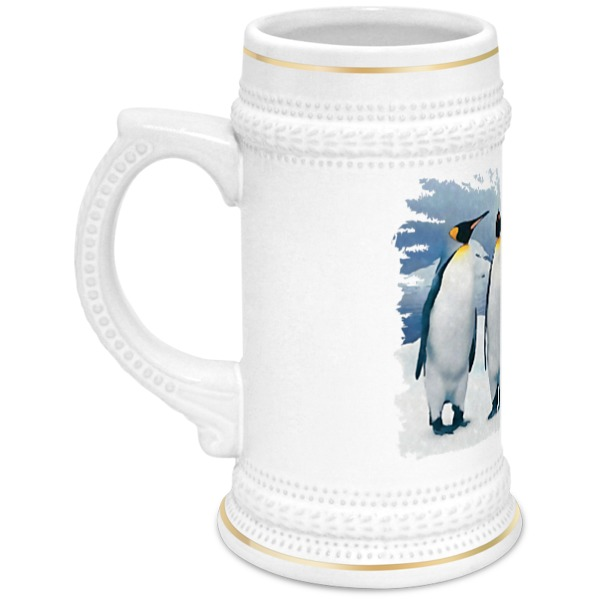 Кружка пивная Printio Три пингвина