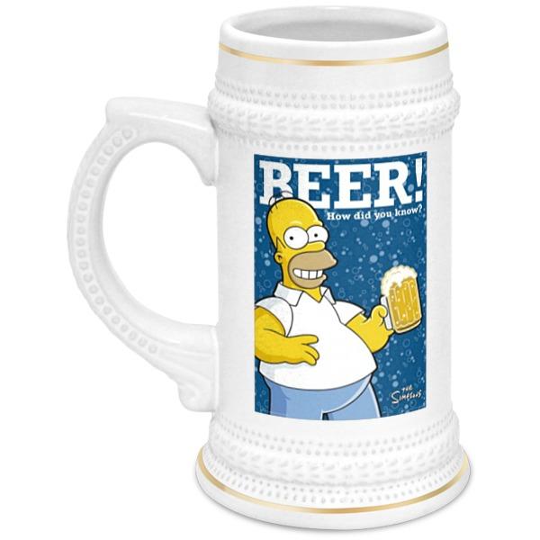 Кружка пивная Printio Homer