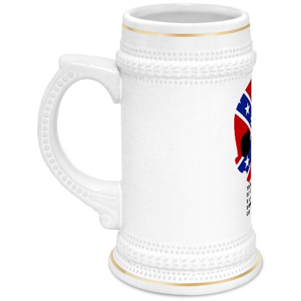 Кружка пивная Printio Флаг конфедерации сша кружка пивная printio пивная ассирийский флаг