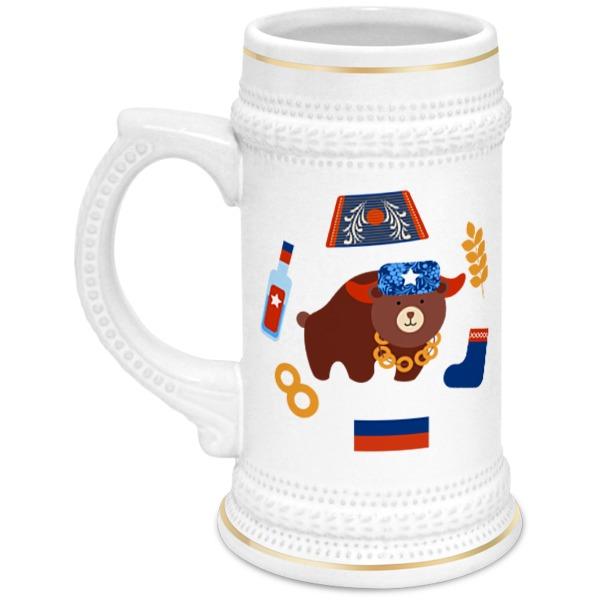 Кружка пивная Printio Россия (russia) россия кружка пивная царегородцева