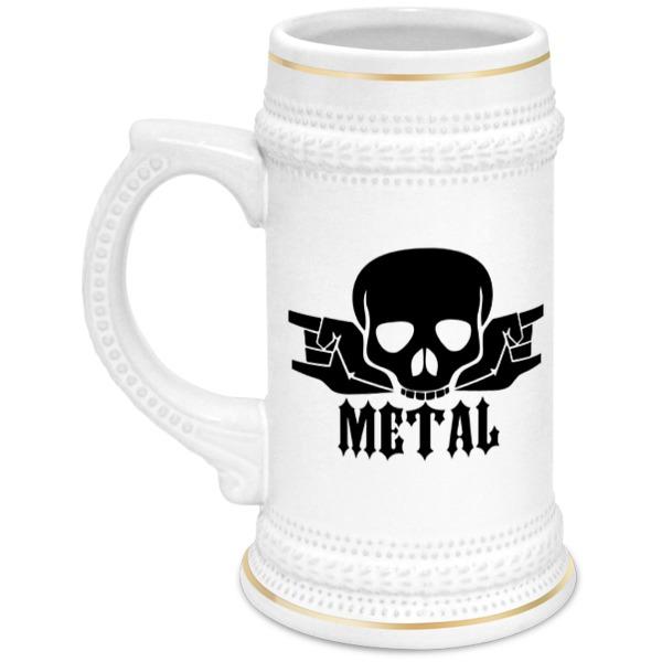 Кружка пивная Printio Metal кружка пивная printio noisy