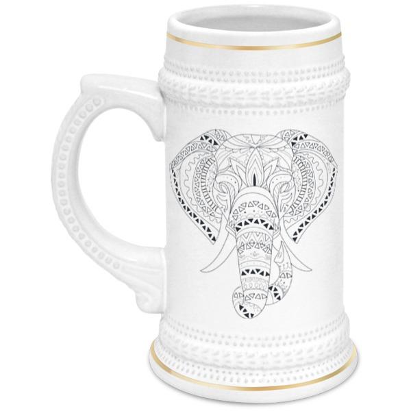 Printio Этнический слон кружка с вашим текстом слон с подарками
