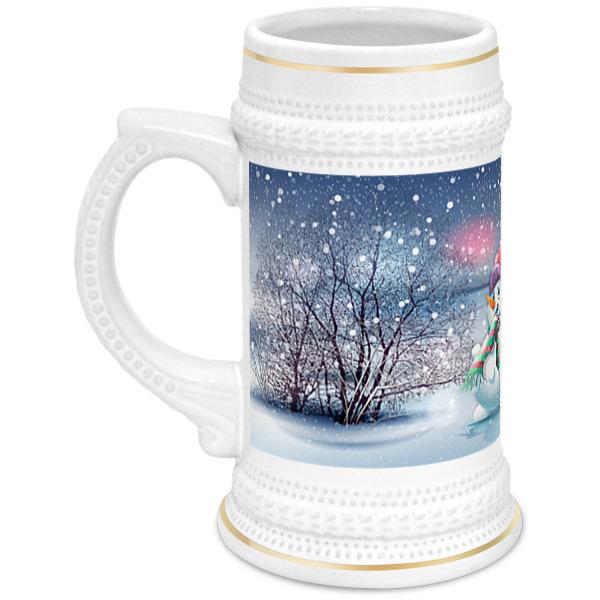 Кружка пивная Printio Снеговик кружка printio снеговик