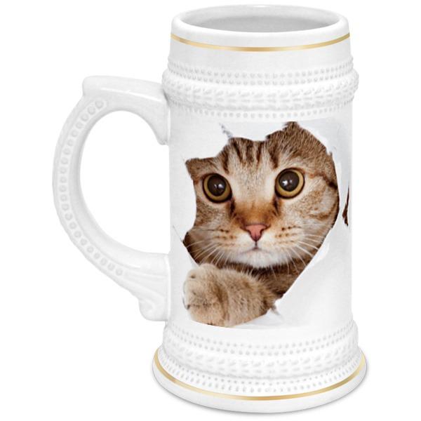 Кружка пивная Printio Кошки кружка printio силуэт белой кошки