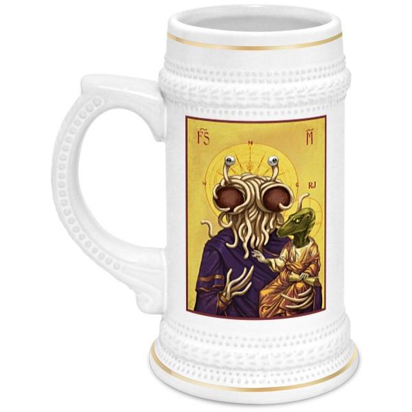 Кружка пивная Printio Символ пастафарианства