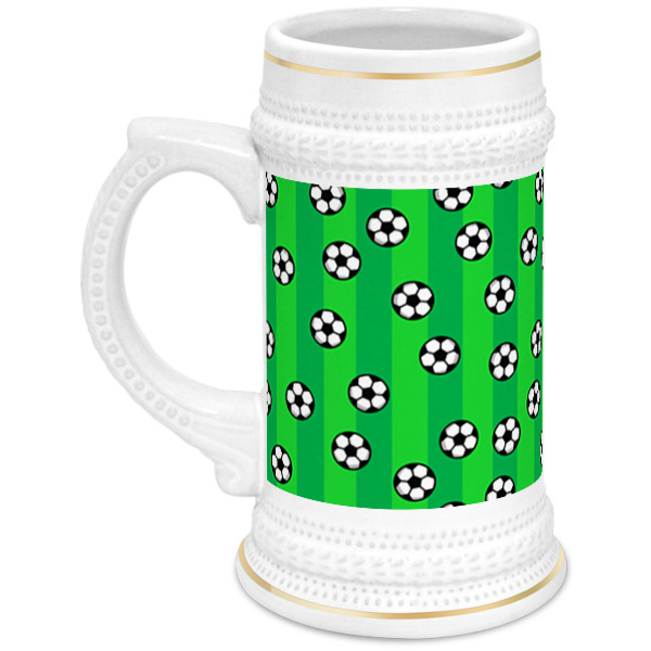 Кружка пивная Printio Футбольные мячи