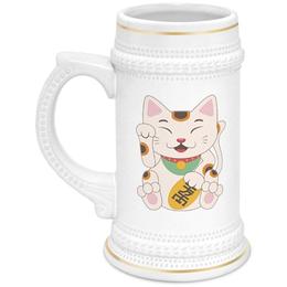 """Кружка пивная """"Кошка"""" - кот, кошка, рисунок, животное"""