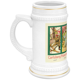 "Кружка пивная ""Carlsberg"" - ретро, пиво, реклама, carlsberg"