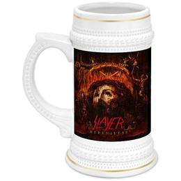 "Кружка пивная ""Slayer Repentless 2015"" - музыка, пиво, металл, slayer, thrash metal"
