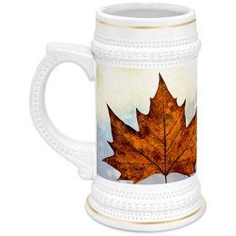 """Кружка пивная """"Осень"""" - осень, пиво, подарок, сюрприз, золотая осень"""