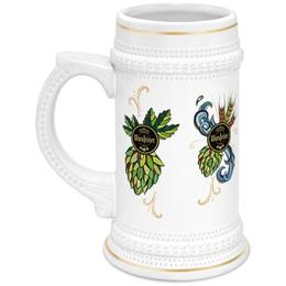 """Кружка пивная """"Warsteiner"""" - дизайн, пиво, этикетка, warstiener, варштайнер"""