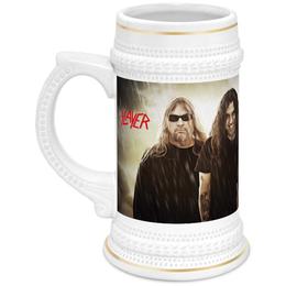 "Кружка пивная ""Slayer 2012"" - музыка, пиво, металл, slayer, thrash metal"