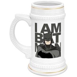 """Кружка пивная """"Бэтмен (Batman)"""" - бэтмен, batman"""