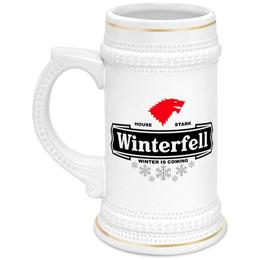 """Кружка пивная """"Винтерфелл. Игра Престолов"""" - пиво, игра престолов, game of thrones, песнь льда и пламени, винтерфелл"""