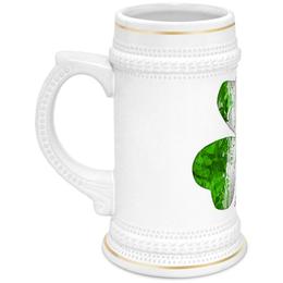 """Кружка пивная """"Трилистник"""" - клевер, ирландия, пиво, трилистник, день святого патрика"""