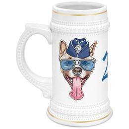 """Кружка пивная """"Собака"""" - новый год, собака"""