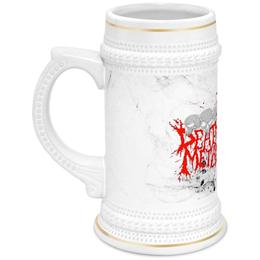 """Кружка пивная """"Death Metal"""" - пиво, смерть, death metal, мистика, металл"""