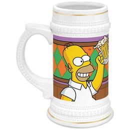 """Кружка пивная """"Гомер"""" - арт, гомер, россия, пиво, симпсоны"""