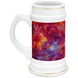 """Кружка пивная """"Космос"""" - space, звезды, stars, космический дизайн, вселенные"""