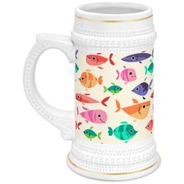 """Кружка пивная """"Рыбки"""" - море, рыбки, рыбак, рыбалка"""