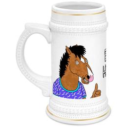 """Кружка пивная """"Конь БоДжек"""" - лошадь, мультсериал, bojack horseman, bojack, боджек"""