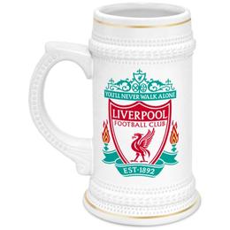 """Кружка пивная """"Ливерпуль"""" - ливерпуль, liverpool, fc liverpool, футбольный клуб ливерпуль"""
