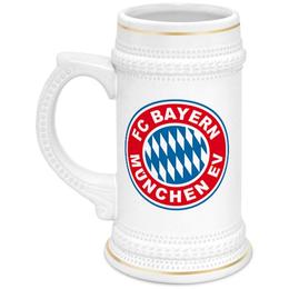 """Кружка пивная """"Бавария Мюнхен"""" - бавария мюнхен, футбольный клуб бавария, fc bayern munchen"""