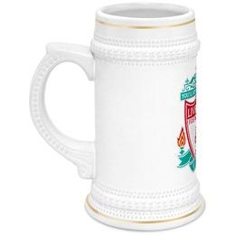 """Кружка пивная """"Liverpool"""" - парню, пивная кружка, бокал для пива, ливерпуль"""