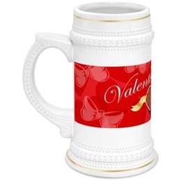 """Кружка пивная """"День Св. Валентина"""" - сердце, валентинка, день св валентина"""