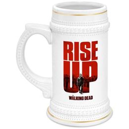 """Кружка пивная """"Ходячие мертвецы / The Walking Dead"""" - комикс, рисунок, кино, сериал, зомби"""
