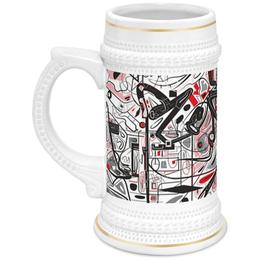 """Кружка пивная """"Mamewax"""" - арт, узор, абстракция, фигуры, медитация"""