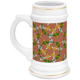 """Кружка пивная """"Вересковый мёд"""" - узоры, орнаменты, кельты"""