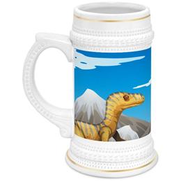 """Кружка пивная """"Динозавры"""" - динозавры, животное"""