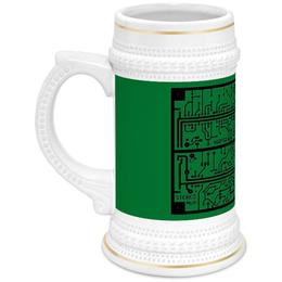 """Кружка пивная """"Электроника"""" - дизайн, техника, наука, электроника"""