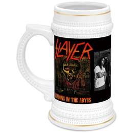 "Кружка пивная ""Slayer-Season In The Abyss 1990"" - рок, пиво, металл, slayer, thrash metal"
