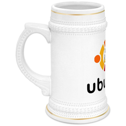 """Кружка пивная """"Ubuntu"""" - ubuntu, tux"""