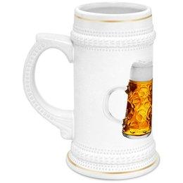 """Кружка пивная """"Пивные бокалы"""" - пиво, бокалы, пивные бокалы"""