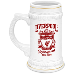 """Кружка пивная """"Ливерпуль """" - you ll never walk alone, ливерпуль, liverpool, футбольный клуб, футбол"""