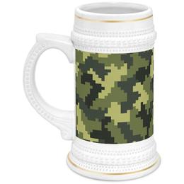 """Кружка пивная """"Камуфляж"""" - 23 февраля, армия, камуфляж, военный, защитник отечества"""