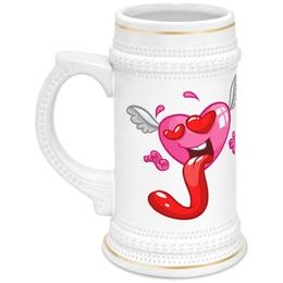"""Кружка пивная """"Сердце"""" - валентинка, сердце, любовь"""