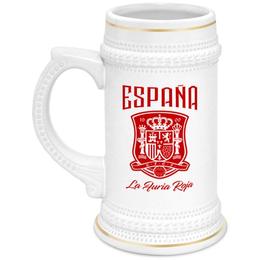 """Кружка пивная """"Сборная Испании"""" - команда испании, сборная испании по футболу, сборная испании, футбол, испания"""