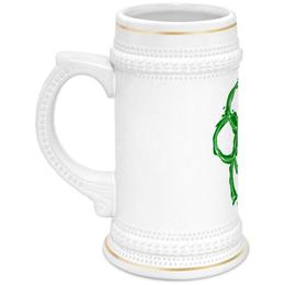 """Кружка пивная """"Клевер"""" - клевер, ирландия, пиво, день святого патрика"""
