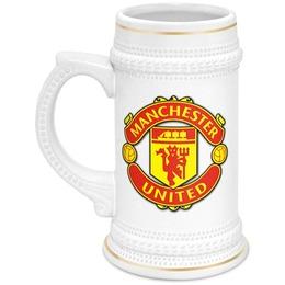"""Кружка пивная """"Manchester United"""" - футбол, манчестер юнайтед, болельщику, manchester united, кружка с логотипом manchester united"""