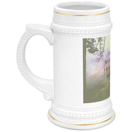 "Кружка пивная ""Стиль арт-фэшн ""pine forest"""" - надписи, лес, природа, фэнтази, author's photo"