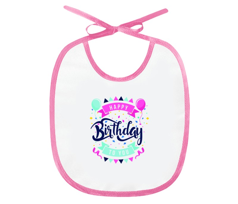 Слюнявчик Printio С днём рождения открытка с днём рождения