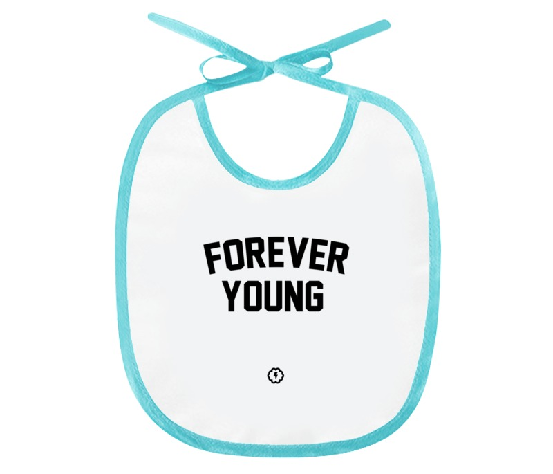 Слюнявчик Printio Forever young by brainy by bonnie young блузка